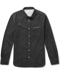 Officine Generale - Selvedge Denim Shirt - Lyst
