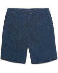 Ermenegildo Zegna - Drawstring Linen Shorts - Lyst
