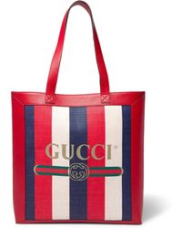 Gucci - Print Medium Tote - Lyst