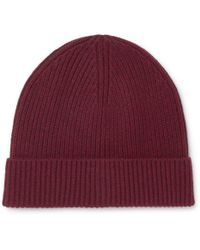 7ff11b14c86 J.Crew Ribbed Donegal Wool-blend Beanie in Natural for Men - Lyst