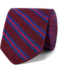 Etro - 6cm Striped Knitted Silk Tie - Lyst