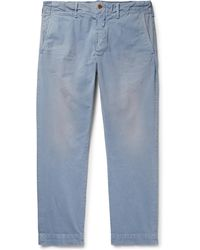 Polo Ralph Lauren - Slim-fit Tapered Washed Cotton-twill Chinos - Lyst
