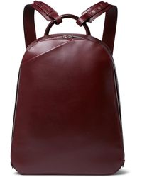 Valextra - My Logo Leather Backpack - Lyst
