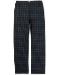 Sleepy Jones | Marcel Piped Black Watch Checked Cotton Pyjama Trousers | Lyst