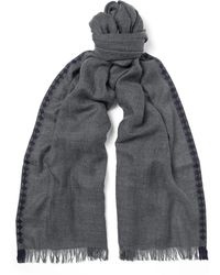 Bottega Veneta - Fringed Cashmere And Silk-blend Scarf - Lyst