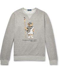 Polo Ralph Lauren - Bear Print Crew Sweat - Lyst