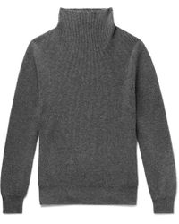 The Row - Daniel Ribbed Cashmere Rollneck Sweater - Lyst