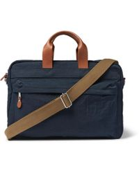 J.Crew - Harwick Leather-trimmed Canvas Briefcase - Lyst
