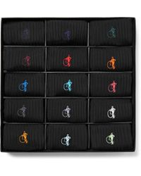 London Sock Co. - The Simply Sartorial 15-pack Ribbed Stretch Cotton-blend Socks - Lyst