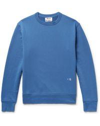 Acne Studios - Faise Loopback Cotton-jersey Sweatshirt - Lyst