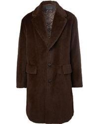 Prada - Oversized Textured Alpaca And Cotton-blend Coat - Lyst