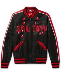 Gucci - Spiritismo Embellished Satin Bomber Jacket - Lyst