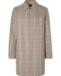 A.P.C. - Stefano Checked Cotton-twill Coat - Lyst