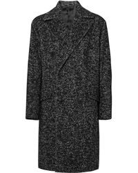 Theory - Oversized Double-breasted Herringbone Wool-blend Bouclé Overcoat - Lyst
