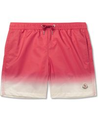 Moncler - Mid-length Dégradé Swim Shorts - Lyst