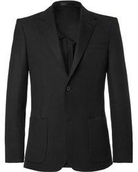 MR P. - Black Unstructured Worsted Wool Blazer - Lyst