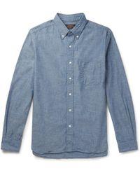 Beams Plus - Button-down Collar Cotton-chambray Shirt - Lyst