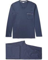 Zimmerli - Mercerised Cotton-jersey Pyjama Set - Lyst