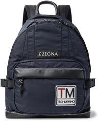 Z Zegna | Leather-trimmed Shell Backpack | Lyst