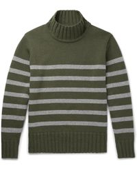 Universal Works - Striped Wool-blend Rollneck Jumper - Lyst