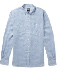 Todd Snyder - Mélange Linen Shirt - Lyst