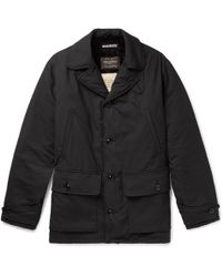 Monitaly - Faux Shearling-lined Cotton Coat - Lyst