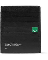Off-White c/o Virgil Abloh - Logo-print Pebble-grain Leather Cardholder - Lyst