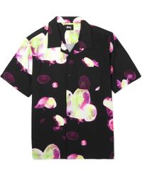 Stussy - Camp-collar Printed Voile Shirt - Lyst