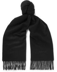 Tom Ford - Two-tone Fringed Cashmere Scarf - Lyst