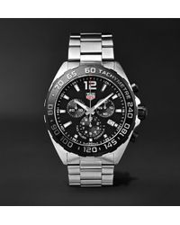 Tag Heuer - Formula 1 Chronograph 43mm Stainless Steel Watch - Lyst