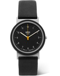 Braun - Aw 10 Stainless Steel And Leather Watch - Lyst
