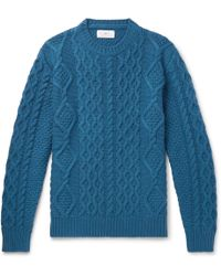 MR P. - Cable-knit Merino Wool And Cashmere-blend Sweater - Lyst