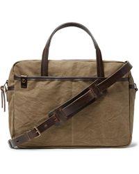 Bleu De Chauffe - Leather-trimmed Canvas Briefcase - Lyst