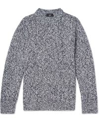 And Wool Slub Cashmere Lyst Blend Dunhill Sweater EqBzxwgTT