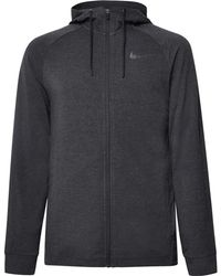 Nike - Mélange Dri-fit Zip-up Hoodie - Lyst