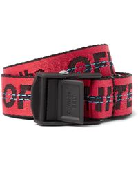 Off-White c/o Virgil Abloh - 2.5cm Red Industrial Canvas Belt - Lyst