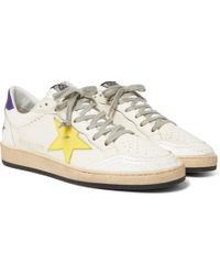 4440e07bde2e6 Golden Goose Deluxe Brand - Ball Star Distressed Leather Sneakers - Lyst