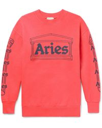 Aries - Temple Printed Cotton-jersey Sweatshirt - Lyst