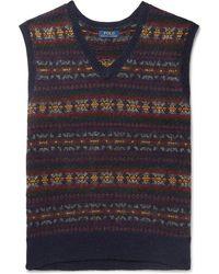 Polo Ralph Lauren - Fair Isle Wool-blend Jacquard Sweater Vest - Lyst