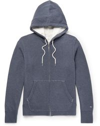 Rag & Bone - Standard Issue Loopback Cotton-jersey Hoodie - Lyst