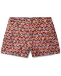 Incotex - Slim-fit Short-length Printed Swim Shorts - Lyst