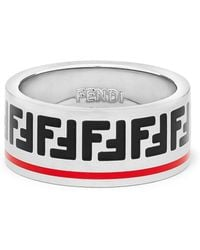 Fendi - Silver Forever Band Ring - Lyst