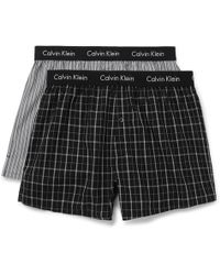 Calvin Klein - Two-pack Cotton Boxer Shorts - Lyst
