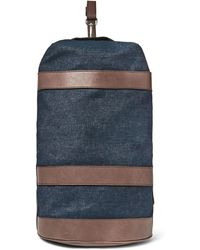 Brunello Cucinelli - Leather-trimmed Denim Duffle Bag - Lyst