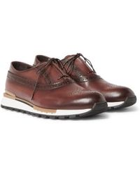 Berluti - Fast Track Leather Trainers - Lyst