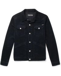 Tom Ford - Washed Stretch-cotton Corduroy Jacket - Lyst