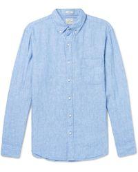 J.Crew - Slim-fit Button-down Collar Linen Shirt - Lyst