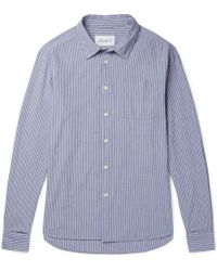 Albam - Striped Cotton Oxford Shirt - Lyst