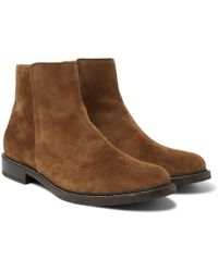 Brunello Cucinelli - Suede Chelsea Boots - Lyst