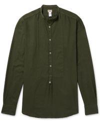 Massimo Alba - Grandad-collar Modal And Cotton-blend Shirt - Lyst